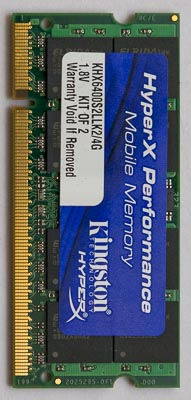 Barrette de RAM du PC Portable